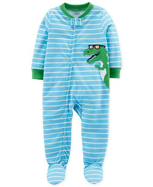 Carter's Baby Boys Footed Dinosaur Pajamas