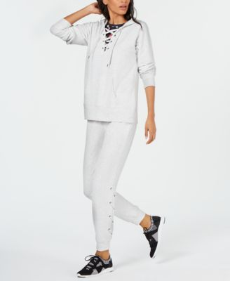 Lace-Up Hoodie, Created for Macy's