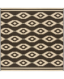 "Safavieh Linden Creme and Brown 6'7"" x 6'7"" Square Area Rug"