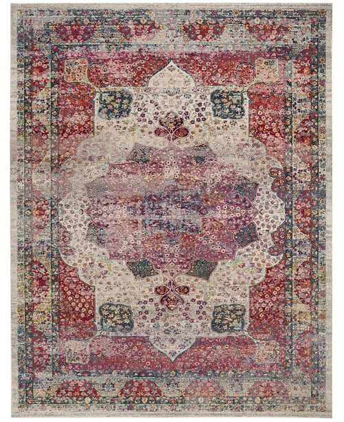 Safavieh Merlot Cream and Multi 9' x 12' Area Rug