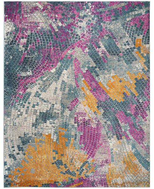 Safavieh Madison Blue and Multi 9' x 12' Area Rug