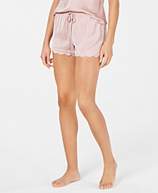 INC Scalloped-Hem Pajama Shorts, Created for Macy's