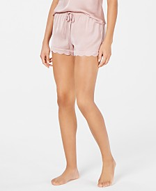I.N.C. Scalloped-Hem Pajama Shorts, Created for Macy's