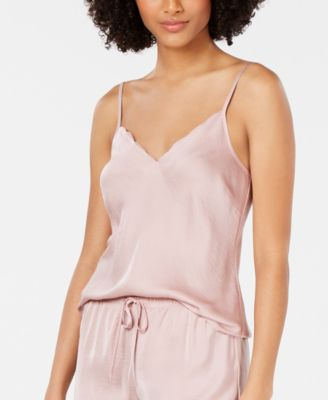 INC Scalloped-Neck Camisole Pajama Top, Created for Macy's