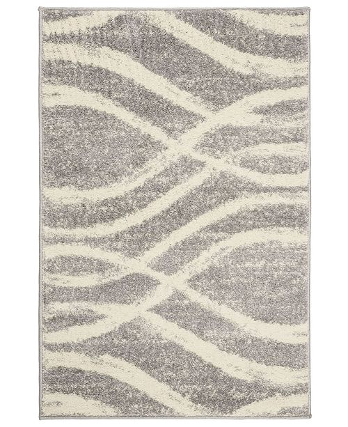 "Safavieh Adirondack Gray and Cream 2'6"" x 4' Area Rug"