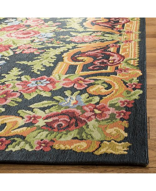Safavieh Classic Vintage Black and Rose 5' x 8' Area Rug