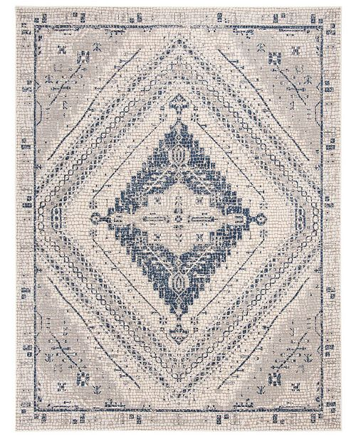 Safavieh Marseille Navy and Ivory 9' x 12' Area Rug