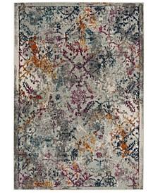 Madison Light Gray and Fuchsia 8' x 10' Sisal Weave Area Rug