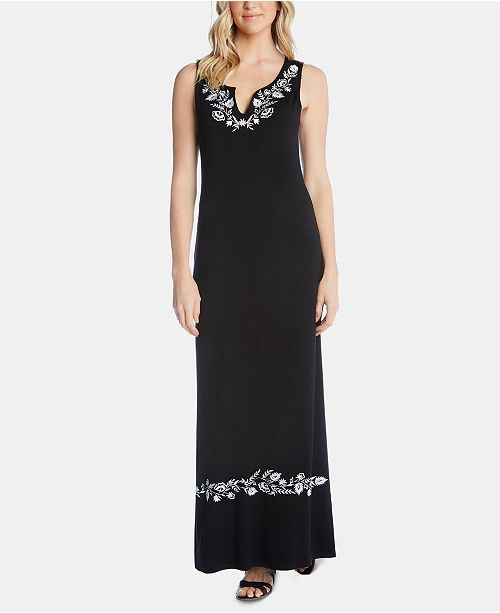 454cd7d17e2 Karen Kane Embroidered Maxi Dress  Karen Kane Embroidered Maxi Dress ...