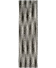 "Safavieh Courtyard Black and Light Grey 2'3"" x 6'7"" Sisal Weave Runner Area Rug"
