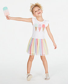 Epic Threads Toddler Girls Rainbow Mesh Ice Cream Dress, Created for Macy's