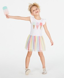 Epic Threads Toddler Girls Rainbow Mesh Ice Cream Dress, Created for Macy's