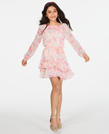Epic Threads Big Girls Floral-Print Smocked Dress, Created for Macy's