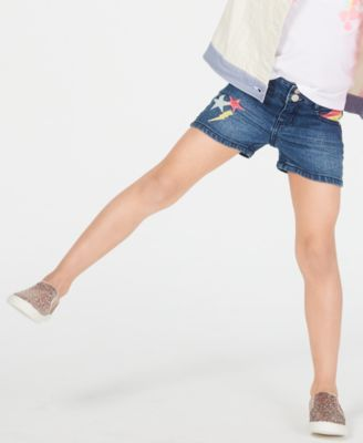 Toddler Girls Embellished Denim Shorts, Created for Macy's
