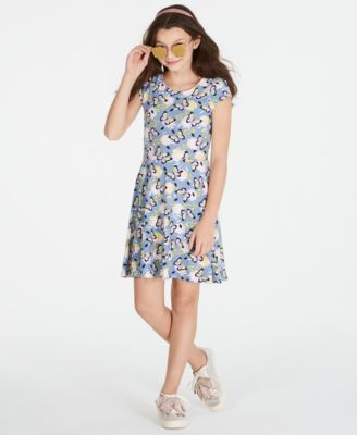 Image of Epic Threads Super Soft Big Girls Butterfly-Print Fit & Flare Dress, Created for Macy's