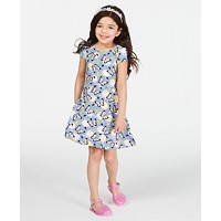 Epic Threads Super Soft Toddler Girls Butterfly-Print Dress (Blue Ashstone)