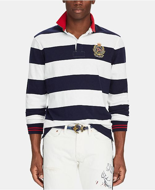 6309f5333c ... Polo Ralph Lauren Men's Big & Tall Classic-Fit Striped Rugby Shirt ...