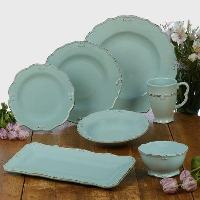 Vintage Blue Bread Tray