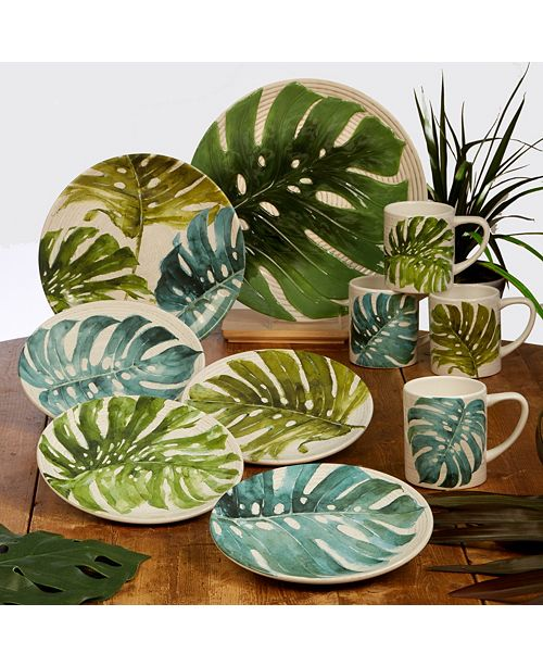 Certified International Palm Leaves Dinnerware Collection