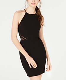 B Darlin Juniors' Illusion-Side Bodycon Dress, Created for Macy's