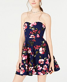 Juniors' Strapless Fit & Flare Dress, Created for Macy's