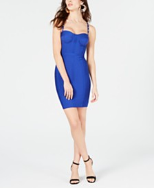 c1db8df793 GUESS Anne Sweetheart-Neck Studded-Strap Dress