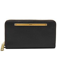 Liza Leather Zip-Around Wallet