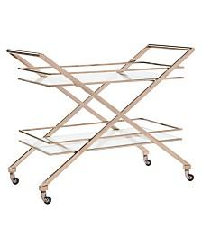 Marcelo Metal Bar Cart, Quick Ship