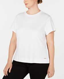 Calvin Klein Plus Size Cotton T-Shirt