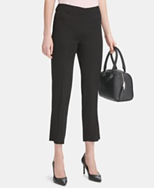 Calvin Klein Dot-Embossed Ankle Pants