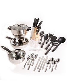 Total Kitchen Lybra 32 Piece Cookware Combo Set
