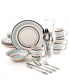 Deluxe Essentials 32 Piece Dinnerware Combo Set