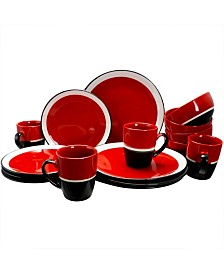 Color Eclipse 16 Piece Dinnerware Set