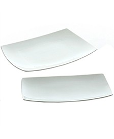 2 Piece Serving Platter Set