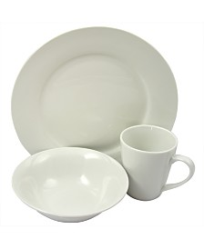 Noble Court Fine Ceramic 12 Piece Dinnerware Set
