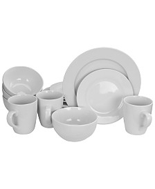 Gracious Dining 16 Piece Hotelware Set, Fine Ceramic