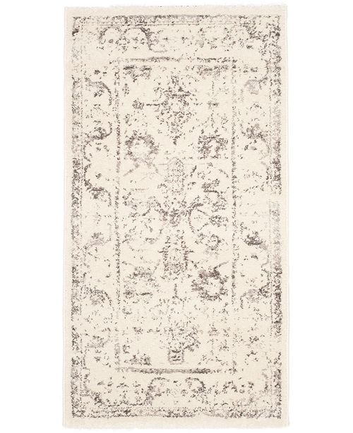 "Safavieh Porcello Ivory and Light Gray 2'7"" x 5' Area Rug"