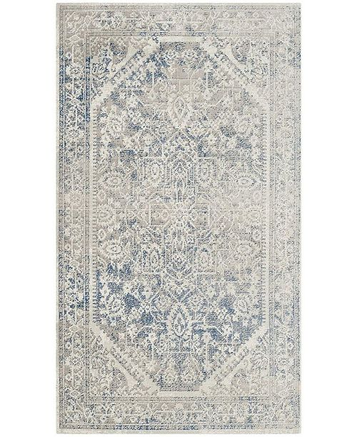Safavieh Patina Gray and Blue 3' x 5' Area Rug