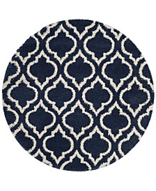 Hudson Navy and Ivory 7' x 7' Round Area Rug