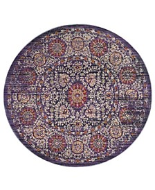 Sutton Lavender and Ivory 6' x 6' Round Area Rug