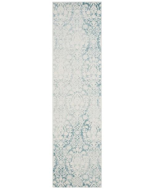 """Safavieh Passion Turquoise and Ivory 2'2"""" x 6' Runner Area Rug"""