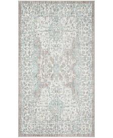 Safavieh Windsor Light Gray and Aqua 3' x 5' Area Rug