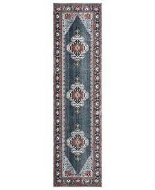 "Safavieh Vintage Persian Blue and Light Blue 2'2"" x 8' Runner Area Rug"