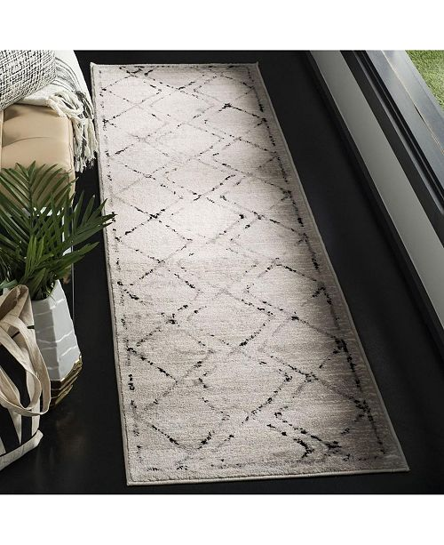 Safavieh Skyler Ivory and Grey 2' x 6' Runner Area Rug