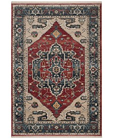 Vintage Persian Red and Blue 4' x 6' Area Rug