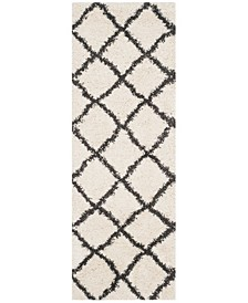"""Belize Ivory and Charcoal 2'3"""" x 7' Runner Area Rug"""