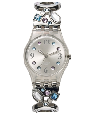 Swatch Women's Swiss Menthol Tone Stainless Steel Link Bracelet Watch 25mm LK292G