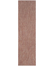 "Safavieh Courtyard Red and Beige 2'3"" x 8' Runner Area Rug"