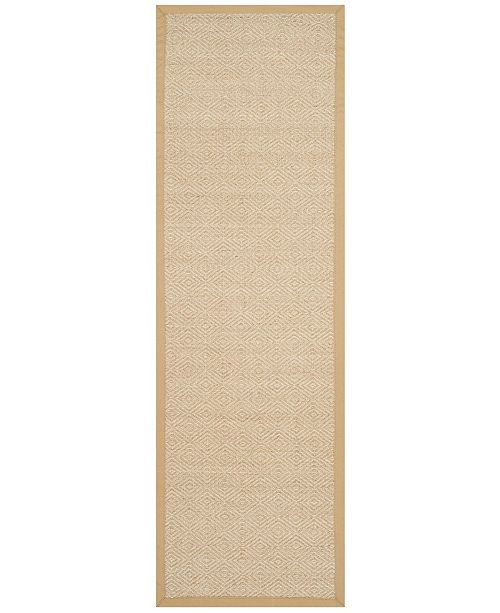 "Safavieh Natural Fiber Natural and Beige 2'6"" x 8' Sisal Weave Runner Area Rug"