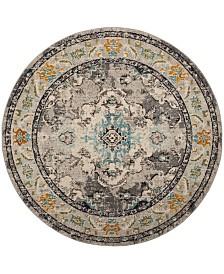 "Safavieh Monaco Gray and Light Blue 6'7"" x 6'7"" Round Area Rug"